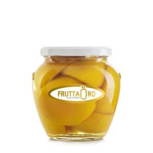 Pesche allo sciroppo in vaso orcio 560gr Frutta Oro