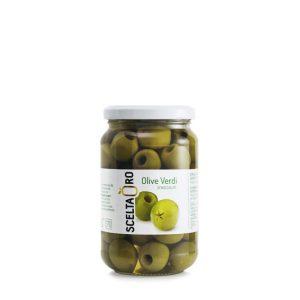 Olive verdi denocciolate 370 ml Scelta Oro