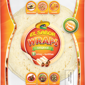 ES00141 el sabor_208_8 Wraps Original_ 8_(20cm) (16x8pcs)